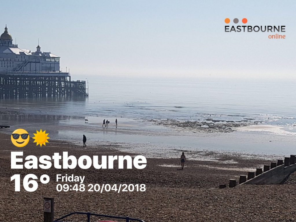 Eastbourne Beach - tide out - Friday 20th April 2018
