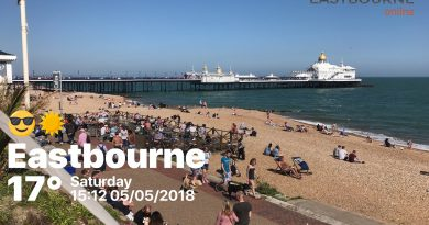 Eastbourne seafront on Sat 5th May 2018